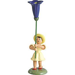 Blumenkind Enzian, farbig - 12 cm