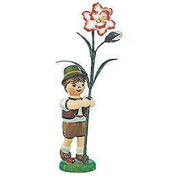 Blumenkind Junge mit Nelke - 11 cm