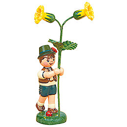 Blumenkind Junge mit Schlüsselblume - 11 cm
