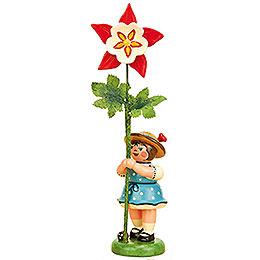 Blumenkind Mädchen mit Akelei - 11 cm