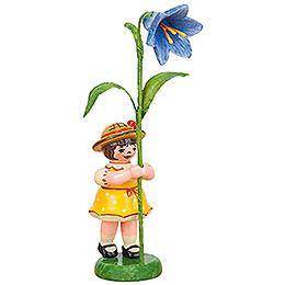 Blumenkind Mädchen mit Blauglöckchen - 11 cm
