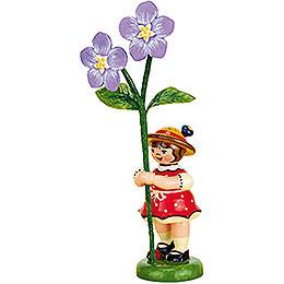 Blumenkind Mädchen mit Flachs - 11 cm