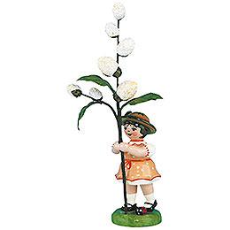 Blumenkind Mädchen mit Maikätzchen 2. Auflage - 11 cm