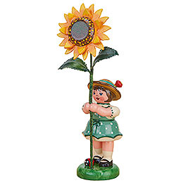 Blumenkind Mädchen mit Sonnenblume - 11 cm