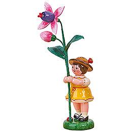 Blumenkind Mädchen mit Fuchsie - 11 cm