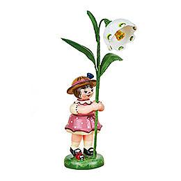 Blumenkind Mädchen mit Märzenbecher - 11 cm