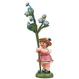 Blumenkind Mädchen mit Vergissmeinnicht - 11 cm