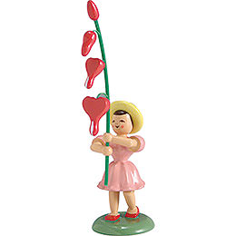 Blumenkind Tränendes Herz, farbig - 12 cm