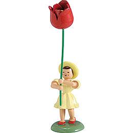Blumenkind Tulpe, farbig - 12 cm