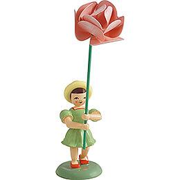 Blumenkind mit Pfingstrose, farbig - 11,5 cm