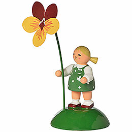 Blumenmädchen mit Stiefmütterchen - 6 cm