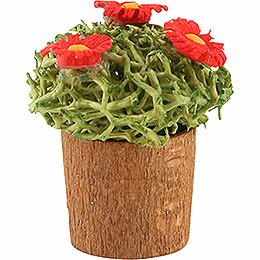Blumentopf mit Blüten - 3 cm