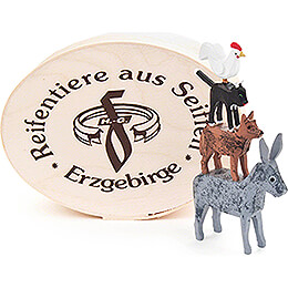 Bremer Stadtmusikanten in Spandose - 5 cm