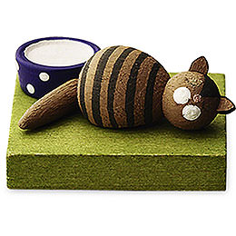 Brown Cat, Sleeping - 1 cm / 0.5 inch