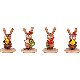 Bunnies - 4 pcs. - Chick, Watering Can, Carrot and Egg - 5 cm / 2 inch