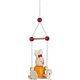 Bunny Emma on Swing - 9 cm / 3.5 inch