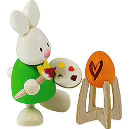 Bunny Max as Painter - 9 cm / 3.5 inch