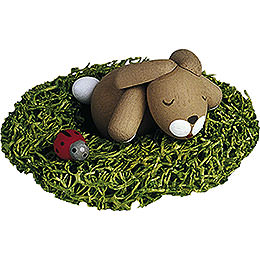 Bunny Sleeping in Nest - 2,7 cm / 1.1 inch