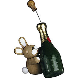 Bunny with Champagne Bottle - 2,7 cm / 1.1 inch