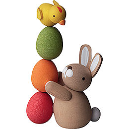 Bunny with Pile of Eggs - 3,5 cm / 2inch / 1.4 inch