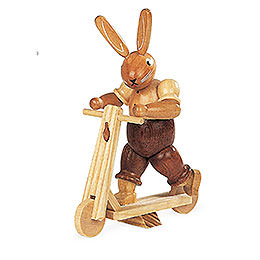 Bunny with Scooter - 11 cm / 4 inch