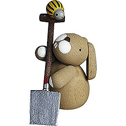 Bunny with Spade - 2,7 cm / 1.1 inch