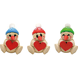 COOL MAN Heart - 3 pcs. - 6 cm / 2.4 inch