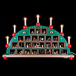 Candle Arch - Advent Calendar - 48x76 cm / 19x30 inch