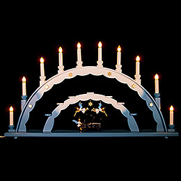 Candle Arch - Angel at the Piano and Electric Lights and Three Angels - 70x40 cm / 27.5x15.7 inch