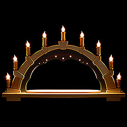 Candle Arch - Anthracite Interior - without Figurines - 66x40 cm / 26x15.7 inch