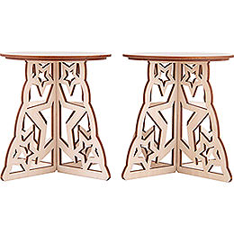 Candle Arch Base - Star - Set of Two - 15x12 cm / 5.9x4.7 inch