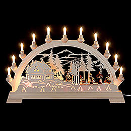 Candle Arch - Bird Feeding - 65x40 cm / 26x16 inch