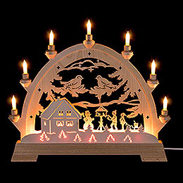 Candle Arch - Children in Bird House - 48 cm / 18.9 inch