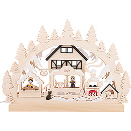 Candle Arch - Christmas Bakery - 42x30 cm / 16.5x11.8 inch