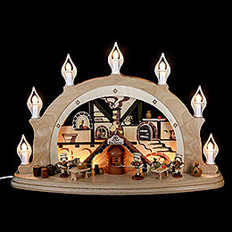 Candle Arch - Christmas Bakery - 57x38x15 cm / 22x15x7 inch