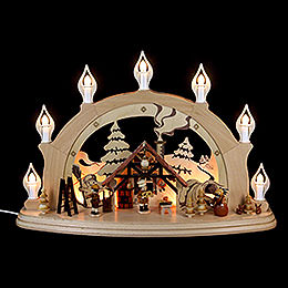 Candle Arch - Christmas Parlor - 57x38x15 cm / 22x15x6 inch