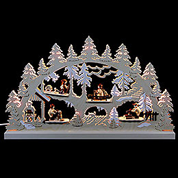 Candle Arch - Forest Life - 62x37x5,5 cm / 24x14x2 inch