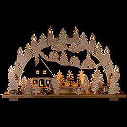 Candle Arch - Forest house - 70x43 cm / 28x17 inch