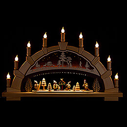 Candle Arch - Forest with Winter Children - 66x40 cm / 26x15.7 inch