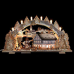 Candle Arch - Market Café with Turning Pyramid - 72x43x13 cm / 5.1 inch