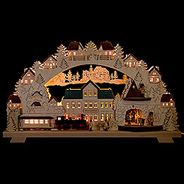 Candle Arch - Mine with Railroad - 70x40 cm / 27.6x15.7 inch
