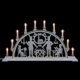 Candle Arch - Miner with Church - 78x42 cm / 31x17 inch