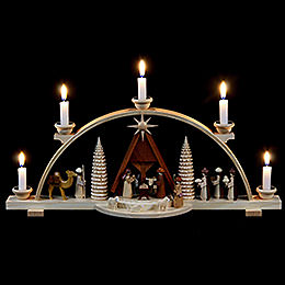 Candle Arch - Nativity Scene - 47 cm / 19 inch