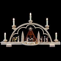 Candle Arch - Nativity Scene - 57 cm / 22 inch - 120 V Electr. (US-Standard)