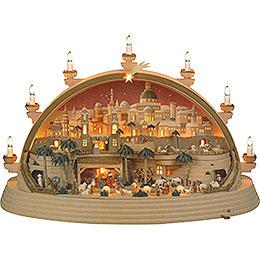 Candle Arch - Nativity Scene in Bethlehem - Limited Edition - 74x28x58 cm / 29x11x23 inch