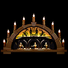 Candle Arch - Ore Mountains with Miners - 66x40 cm / 26x15.7 inch
