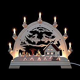 Candle Arch - Round Arch with Deer - 40x43 cm / 16.9 inch