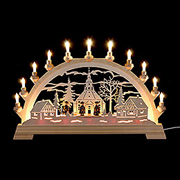 Candle Arch - Seiffen Church with Carolers - 65x40 cm / 26x16 inch