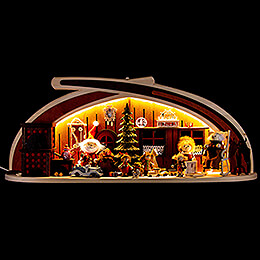 Candle Arch - Solid Wood Distribution of Presents - 60x24 cm / 23.6x9.4 inch