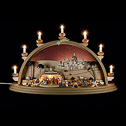 Candle Arch - The Nativity - 75x42x20 cm / 29.5x16.5x7.8 inch
